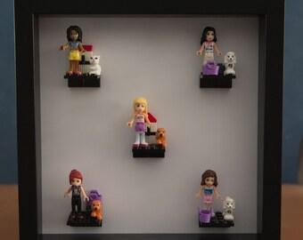 Little Girl mini-fig display frame