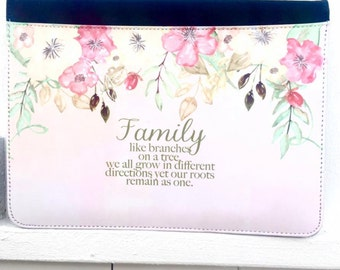 Family (Like Branches On A Tree) Pretty Watercolour Flower iPad Case