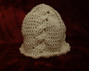 Crocheted Cable Cap Pattern