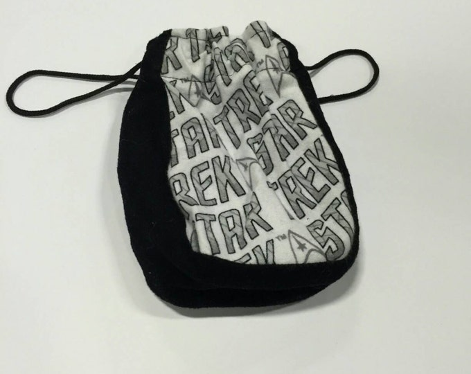 Star Trek cotton and satin dice bag, pouch of holding