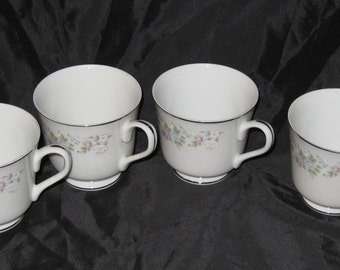 Corsage By Carlton Japan Set Of 4 Footed Cups