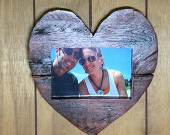 Rustic Heart Picture Frame, Heart Picture Frame, Picture Frame, Rustic Picture Frame, Valentine's Day Picture Frame, Frame, Wooden Frame