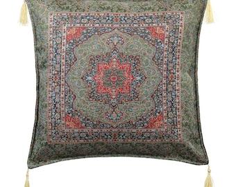Turkish Kilim Pillows  17x17 Bohemian Home Decor Handwoven Ethnic Tribal Turkish Kilim Pillow Cushion Cover Case Throw Pillows Marrakesh