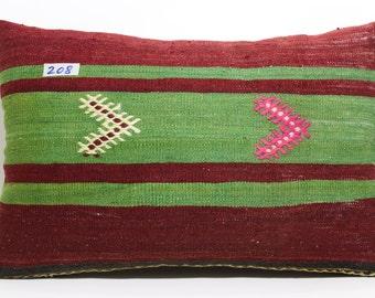 striped kilim pillow 16x24 vintage kilim pillow home decor throw pillow ethnic pillow SP4060-208