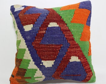 bohemian pillow geometric design Pillow multicolour pillow  floor pillow decorative pillow Cushion Cover throw pillow 16x16 SP4040-870