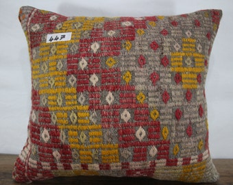 Decorative Kilim Pillow 16x18 Kilim Pillow 16x18 Kilim Cushion Cover,Tribal Pillow,Embroidered Pillow Throw Pillow Ethnic Pillow SP4040-447