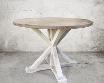 Dining Table, Kitchen Table, Reclaimed Wood, Table, Round Table, Handmade
