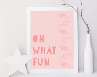 Oh What Fun Artwork 8 x 10