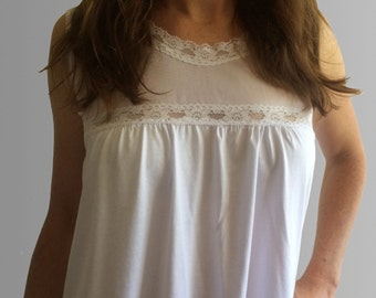 Positano organic white cotton nightie made in Australia