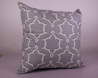 Grey Baroque Cushion Cover (45cm x 45cm)