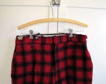 1950's LL Bean Wool Ski Pants, Buffalo Check, Ski Pants, Wool, LL Bean, 1950's, Made in USA, Men's, Unisex, Sportsman, Ski, Snow, Pants
