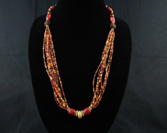 Multi color Glass seed Beads Necklace