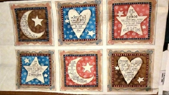 Quilting Treasures Christian Fabric Expressions Of Faith Panel
