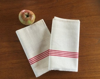 French Vintage 'Metis' Linen/Cotton Tea Towels