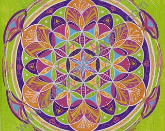 "Mandala ""Flower of life"" (Reproduction on canvas)"