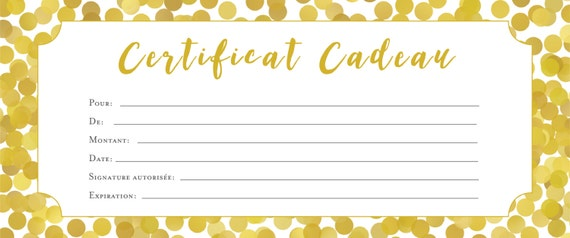Sewing gift certificate template