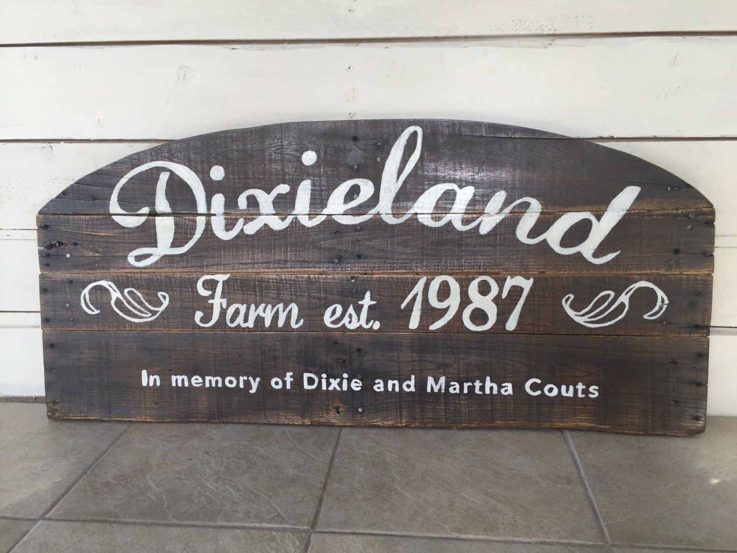 Custom Outdoor Wood Sign