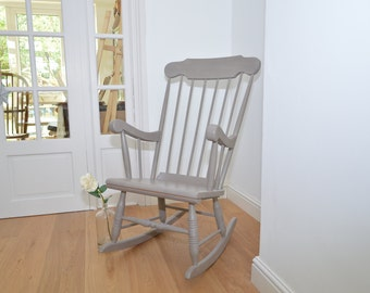 Vintage Spindleback Rocking Chair - Shabby Chic