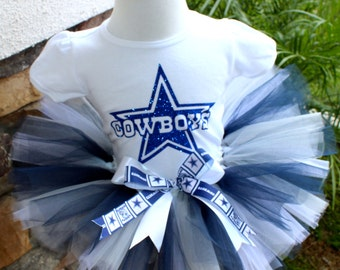 Dallas Cowboys Tutu, Cowboys Tutu, Navy Gray and White Tutu, Football Tutu, Sports Tutu,