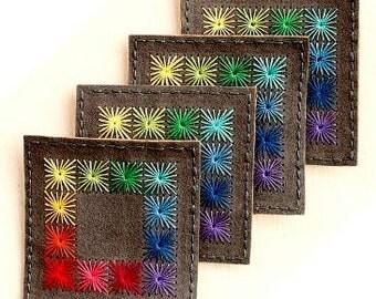 Handmade Coasters, Coasters, Drink Coasters, Felt Coasters, Wool Coasters