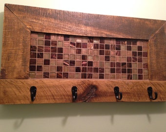 Coat rack, towel rack, key hook, Mosaic, key rack, Coat Hook