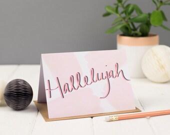 Hallelujah Greeting Card, Congratulations Card, Christian Cards
