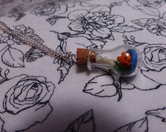 Handmade Fish Vial Necklace