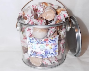American salt water taffy assorted chocolate gift pot