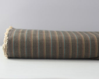 Brown Multi Colored Striped Herringbone By The Yard