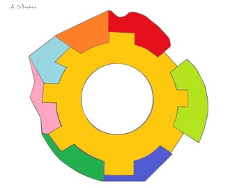 Multicolour Cog Wheel