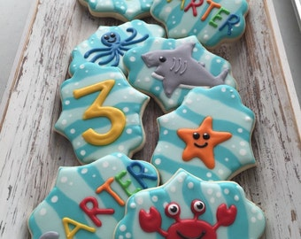 Sea Life Cookies (1 Dozen)