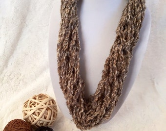 Beige Infinity scarf (Child-Small/thin)