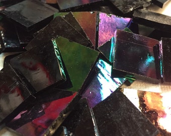 Black Iridescent Stained Glass 3/4""