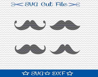 Mustache SVG File / SVG Cut File /  SVG Download / Silhouette Cameo / Digital Download / Movember svg