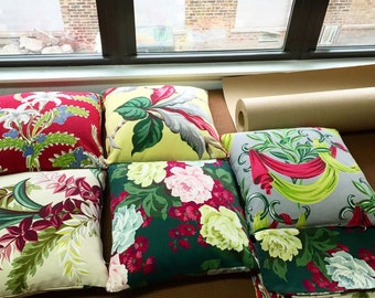 Unique Vintage Barkcloth Pillow Covers- 5 patterns available with 3 of each pattern made