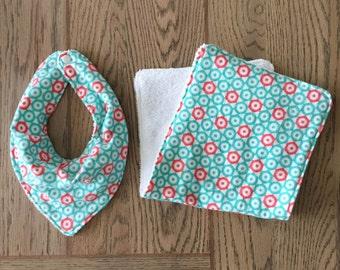 Drool Bib & Burp Cloth Set
