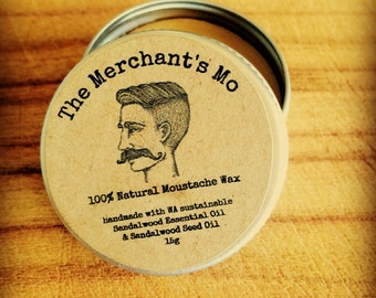 The Merchant's Mo Sandalwood Moustache Wax