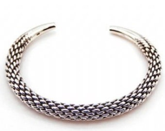 Sterling Silver Bangle Oxidizied Style