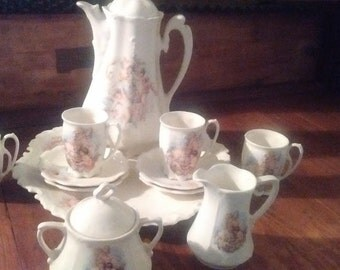 Vintage Cherub Miniature Tea Set