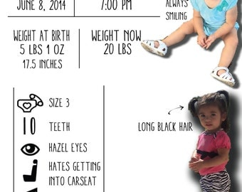 Baby One Year Infographic