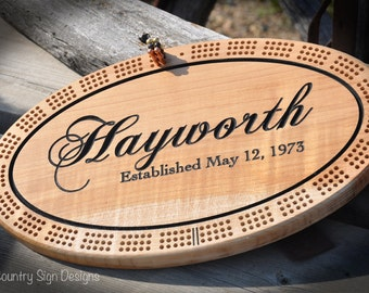 Maple Cribbage Board, Personalized, Wedding Gift, Christmas, Birthday