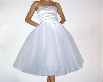 70 cm white tulle skirt petticoat