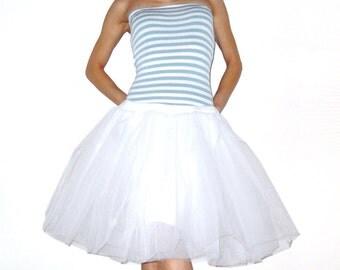 Tulle skirt petticoat white skirt length 55 cm