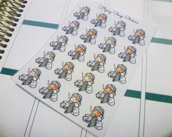 Cute Sleepy Chibi/Character/Boy/Girl Planner Stickers