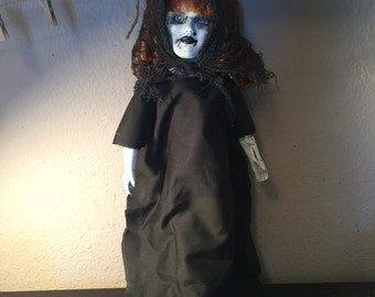 Maralee creepy gothic dark witch horror doll