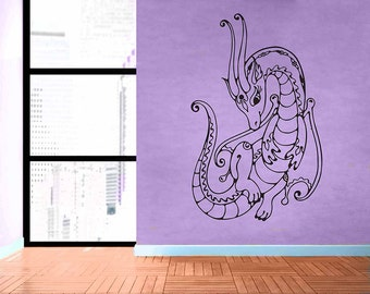 Dragon - No 5 - Removable Vinyl Wall Decal Sticker