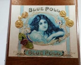 Blue Poll Cigar Box Purse