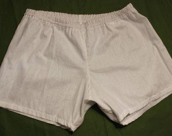 Cotton boxer shorts, white