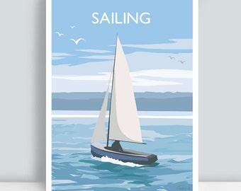 Sailing Travel Poster Print. PLUS FREE POSTAGE!