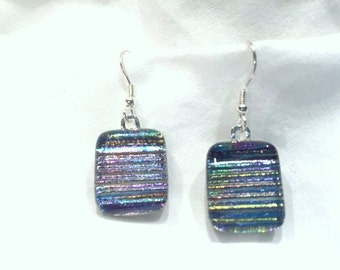 Fused glass earrings (E37)